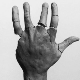 Hand sculpture by artist Chima Lyons